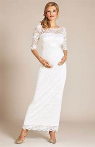 Amelia lace maternity wedding dress long ivory for Maternity dresses for wedding