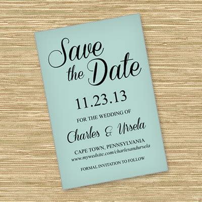 save  date template  script typography