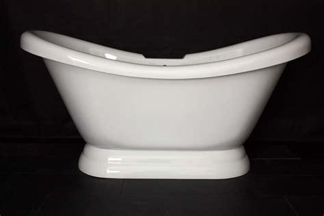 hldspd  hotel collection double slipper pedestal tub