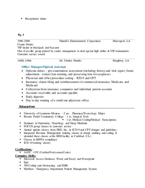 Resume For Casino Dealer by Angie S Resume 2015