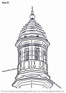 learn how to draw gateway of india turret other places