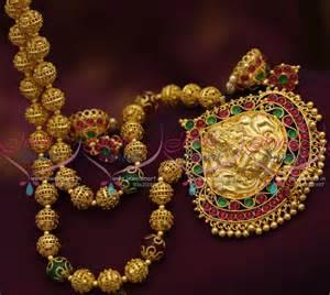 jhumka earrings gold nl7470 handmade nagas one gram gold gundla mala screwback
