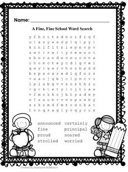 grade word searches  target vocabulary