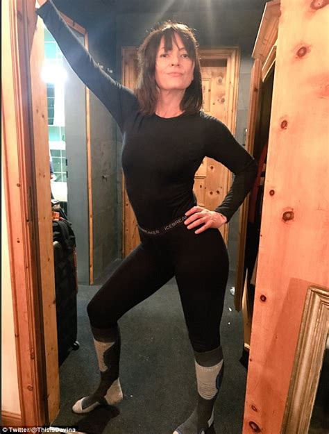 davina mccall flaunts impeccable figure  minnie mouse