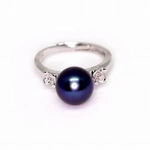 black pearl ring With black pearl wedding rings