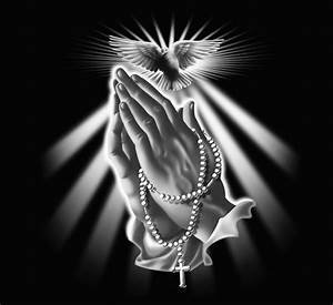 Praying Hands with Rosary Beads and Dove posters & prints ...