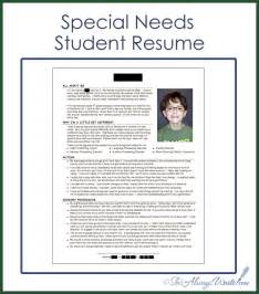 resume for working with children she s always write special needs student resume 2014 update