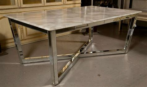 fake marble table tops mirrored base faux marble top dining table at 1stdibs