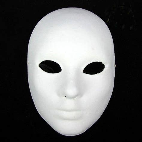 thicken women plain white masks  decorate full face