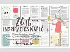 Inspirációs napló 2016 töltsd le és tervezz! urbaneve