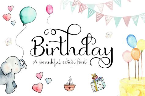 Tailored to tickle the funny bone of a jokester or warm the heart of a sensitive soul, your card speaks your message to the honored recipient every time they read it again. Birthday Font ~ Script Fonts ~ Creative Market