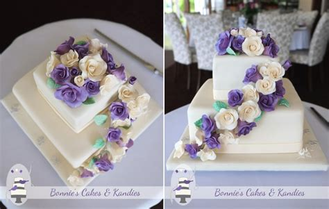 Ivory And Purple Roses For A Summer Wedding At Maleny