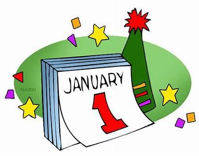 Clipart Calendar Holidays Games January