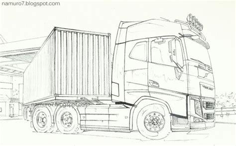 draw volvo fh  truck globetrotter caminhoes volvo desenhos de carros caminhao desenho