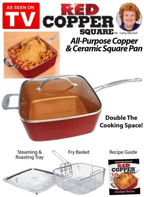 red copper  piece cookware set    tv cookware set cookware fun cooking