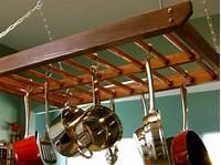 pot and pan hanging rack How to Build a Hanging Pot Rack | how-tos | DIY