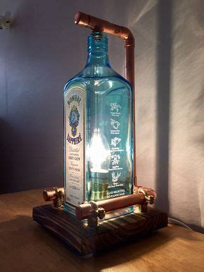 hand  bombay blue sapphire lamp steampunk copper