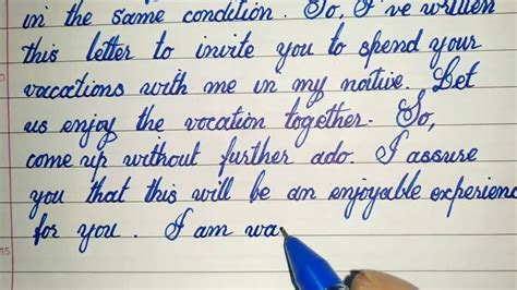 write  letter  invite  friend  spend
