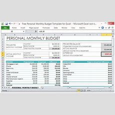 Free Personal Monthly Budget Template For Excel