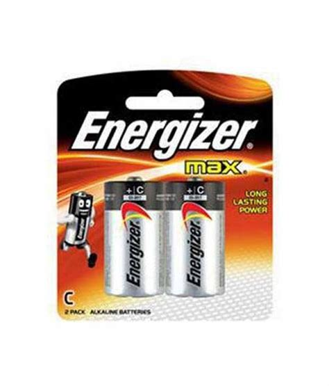 Energizer Max E93BP2 'C' Alkaline Battery Max (Pack of 2 ...