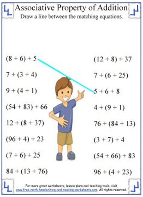 Associative Property Of Addition  Definition & Worksheets