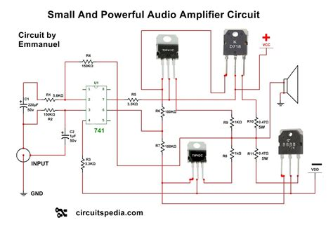 Circuit Diagram Audio Power Amplifier