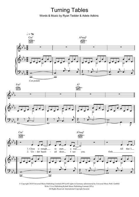 turning tables sheet music turning tables sheet music direct