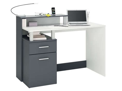 table bureau conforama bureau 120 cm oracle coloris blanc gris vente de bureau