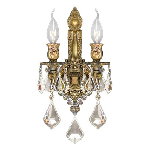 worldwide lighting versailles 2 light french gold and