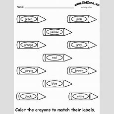 Color Recognition Worksheets For Preschoolers  Colors Recognition Practice Worksheet Colors