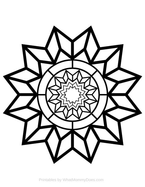 free printable coloring page detailed pattern what does