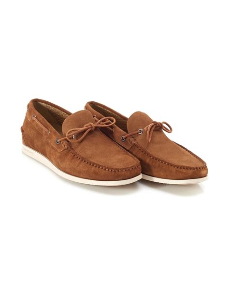 Suede Boat Shoes by Hugo Orange Mens Boat Shoes Newlan Suede Deck Shoe