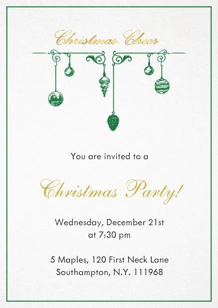 Xmas deco Christmas party invitations