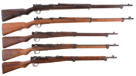 Five Japanese Military Bolt Action Rifles