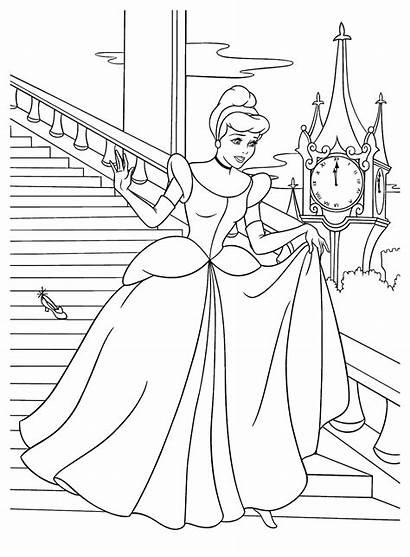 Coloring Cinderella Shoe Lost Pages