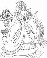 Peacock Coloring Animal sketch template