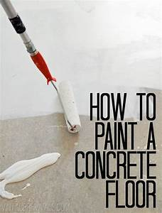 Concrete floors the perfect black for Can i paint a concrete floor
