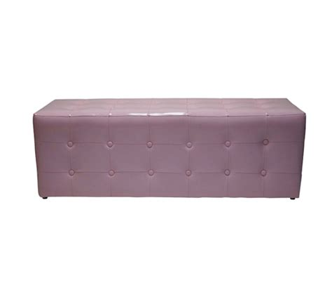 chenille extra long storage bench and ottoman benchy mcbenches extra long ottoman seat baby pink