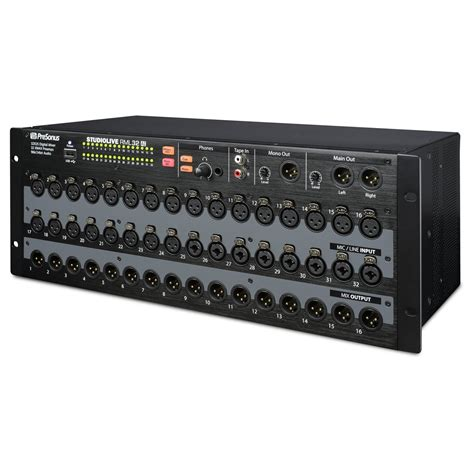 rack mount mixer presonus studiolive rml32ai rack mount digital mixer at