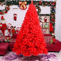 red christmas tree Red Christmas Tree Decorations Ideas - Christmas Celebration - All about Christmas
