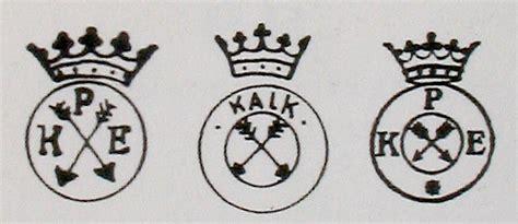 Porzellanmarken Stempel übersicht by Porzellanfabrik Kalk In Eisenberg Th 252 Ringen