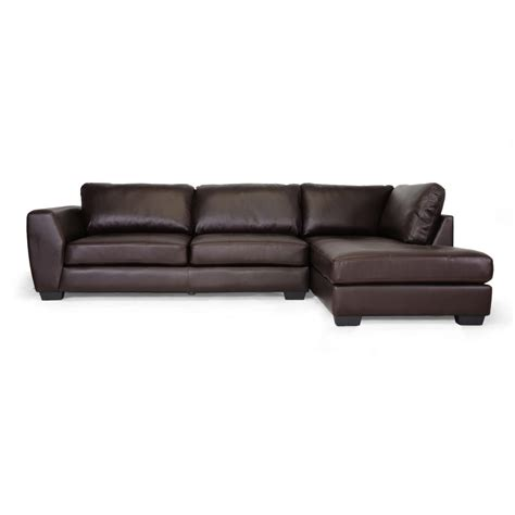 orland brown leather modern sectional sofa set