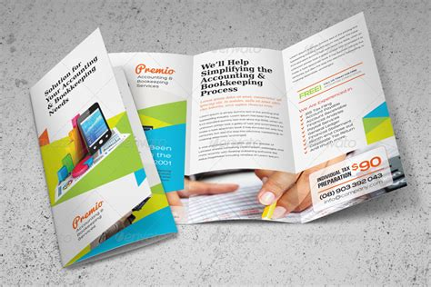 accounting bookkeeping services trifold brochure