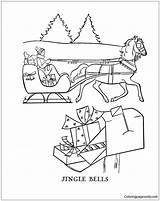 Bells Jingle Pages Coloring Christmas Printable Holidays Coloringpagesonly sketch template