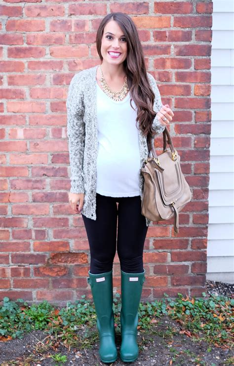 Green Hunter Boots Fall Outfit   MrsCasual