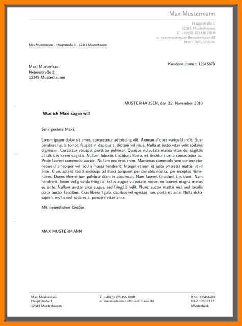 Schreiben Muster by 7 Brief Schreiben Muster Acl Exchange