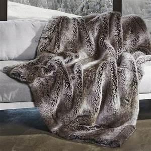 plaid anthracite en fausse fourrure couverture fourrure With tapis de yoga avec plaid canapé fausse fourrure