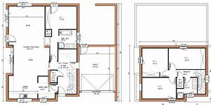 plan de maison en bois contemporaine plans maisons With plan maison etage 4 chambres 1 bureau