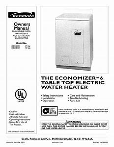 Kenmore Water Heater 153 318131 User Guide
