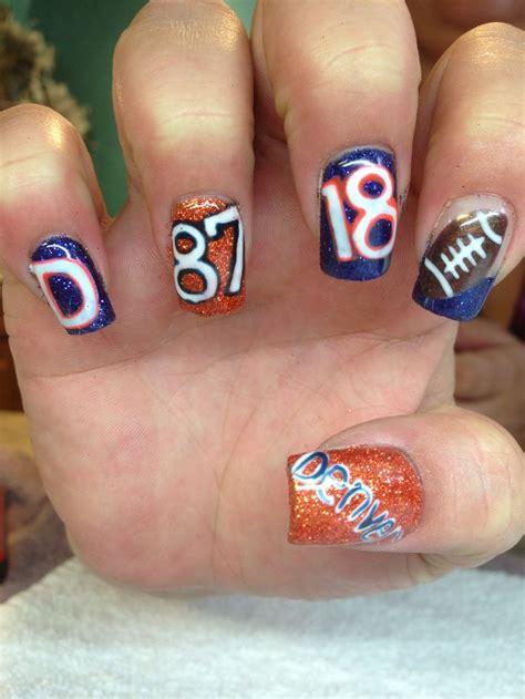 denver broncos nail designs 1000 images about denver broncos nails on